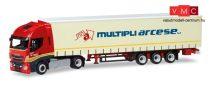 Herpa 309516 Iveco Stralis Highway XP nyergesvontató, ponyvás félpótkocsival - Multipli Arc