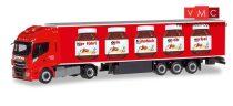 Herpa 310031 Iveco Stralis Hi-Way XP nyergesvontató, hűtődobozos félpótkocsival, Nutella /