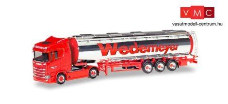 Herpa 310079 Scania CS 20 nyergesvontató, alacsonytetős krómtartályos félpótkocsival - We