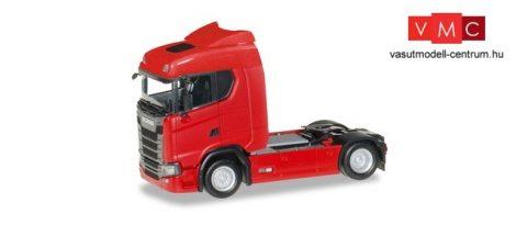 Herpa 310185 Scania CS 20 nyergesvontató, piros (H0)