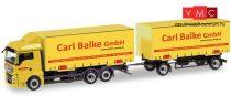 Herpa 310222 MAN TGX XLX csereszekrényszállító teherautó pótkocsival, Carl Balke GmbH (Ni