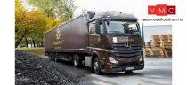 Herpa 310260 Mercedes-Benz Atego 2011 StreamSpace nyergesvontató, ponyvás félpótkocsival -