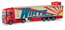 Herpa 310420 Scania CS 20 HD nyergesvontató, hűtődobozos félpótkocsival - Wirtz (H0)