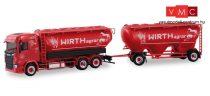 Herpa 310468 Scania CR ND silótartályos teherautó, pótkocsival - Wirth Agrar (H0)