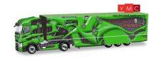 Herpa 310796-002 Renault T nyergesvontató, dobozos félpótkocsival, Deutschland Promotion Truck - Tour de Dynamics, zöld (H0)
