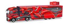 Herpa 310796 Renault T nyergesvontató, dobozos félpótkocsival, Deutschland Promotion Truck -