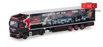 Herpa 311007 MAN TGX XXL Euro 6c nyergesvontató, hűtődobozos félpótkocsival - Trio Trans / MAN (H0)