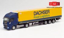 Herpa 312455 Iveco Stralis NP nyergesvontató, hűtődobozos félpótkocsival - Dachser (H0)