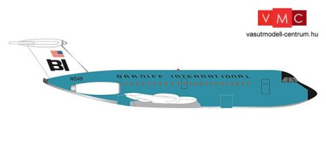 Herpa 533010 British Aerospace BAC 1-11-200 Braniff International Jelly bean Turquoise (1:500)