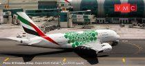 Herpa 533522 Airbus A380 Emirates, Expo 2020 Dubai, Sustainability livery (1:500)
