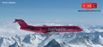 Herpa 559966 Fokker 100, Helvetic magenta (1:200)
