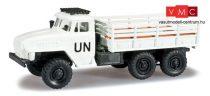 Herpa 744539 URAL 4320 platós csapatszállító teherautó -UN- (H0)