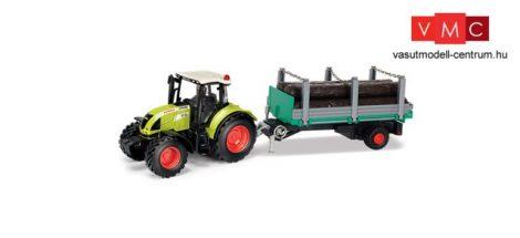Herpa 84184016 CLAAS ARION 540 Traktor rönkszállító utánfutóval (1:32)