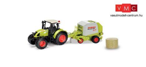 Herpa 84184017 CLAAS ARION 540 Traktor, CLAAS Rollant 250 körbálázóval (1:32)