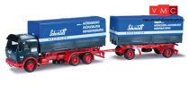 Herpa 907415 Mercedes-Benz NG pótkocsis teherautó cserefelépítménnyel, Schmidt-G Spedition