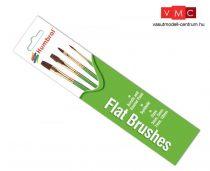 Humbrol AG4302 Flat Brushes - lapos modellecset-készlet