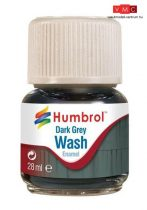 Humbrol AV0204 Enamel Wash 28 ml - Dark Grey - Sötétszürke Enamel bemosófolyadék