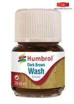 Humbrol AV0205 Enamel Wash 28 ml - Dark Brown - Sötétbarna Enamel bemosófolyadék