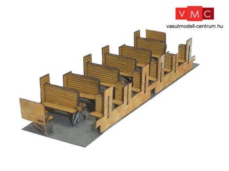 Igra Model 110008 Belső berendezés Bi típusú személykocsiba - építőkészlet (TT)