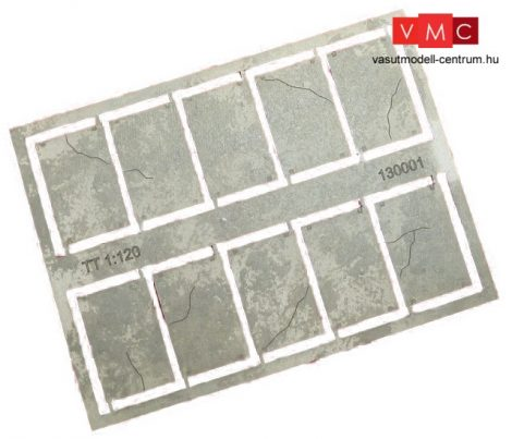 Igra Model 130001 Betonlap útelemek, 20 db, 16,6mm x 25mm - Art. 1 (TT) - LC
