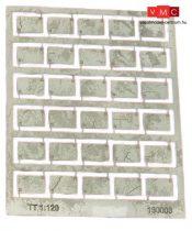 Igra Model 131003 Betonlap útelemek, 30 db, 12,5mm x 8,1mm - Art. 3 (H0) - LC