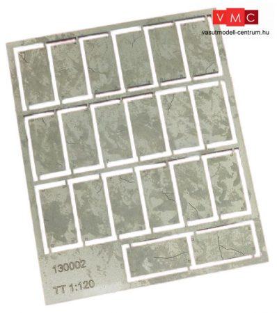 Igra Model 132002 Betonlap útelemek, 20 db, 12,5mm x 25mm - Art. 2 (N) - LC