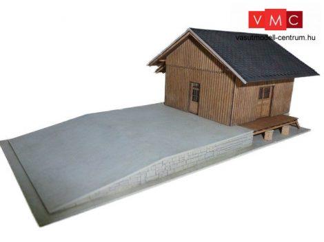 Igra Model 140011 Raktárépület rakodórámpával, szabvány 8x8 méteres (TT) - LC