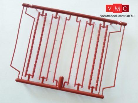 Igra Model 150002 Ereszek, csatornák - piros (H0,TT,N)