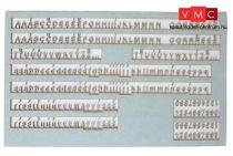 Igra Model 161013 Dombornyomott betűk és számok (H0)