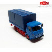 Igra Model 66518033 MAN 270 platós/ponyvás teherautó, kék (H0)