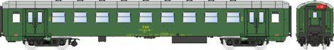Igra Model 97000006 Személykocsi, négytengelyes Bai sorozat, 2. osztály, Praha, CSD (E4) (TT