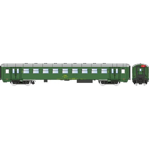 Igra Model 97110018 Személykocsi, négytengelyes Bai sorozat, 2. osztály, Praha, CSD (E4) (H0
