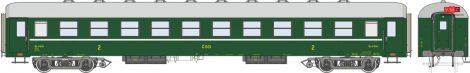 Igra Model 97310000 Személykocsi, négytengelyes Bai sorozat, 2. osztály, Praha, CSD (E3) (H0