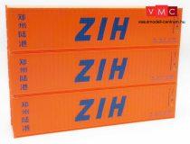 Igra Model 98010005 Konténer-készlet, 3 db 40 lábas konténer eltérő számokkal - ZIH (H0)