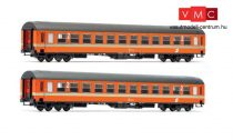 Jägerndorfer JC60150 Személykocsi-pár, négytengelyes UIC-X, 2- osztály, narancs (N) (E4)