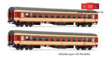 Jägerndorfer JC60160 Személykocsi-pár, négytengelyes UIC-X, 2- osztály, Sparlack festés (N) (E4)