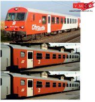 Jägerndorfer JC60330 Személykocsi-készlet, 3-részes négytengelyes lange Schlieren, City Sh