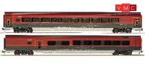 Jägerndorfer JC70220 Személykocsi-pár, négytengelyes Railjet, Bar/Economy - Quiet zone, ÖBB (H0) (E6) - Basic Edition