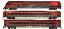 Jägerndorfer JC70309 Személykocsi-készlet vezérlőkocsival, 3-részes négytengelyes Railjet, ÖBB (H0) (E6) - Basic Edition