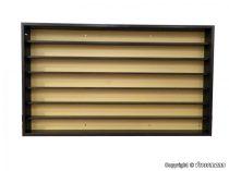 Kibri 12011 Falivitrin elhúzható üvegfallal (mogyoró színben) - két végén zárt