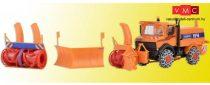 Kibri 15011 Unimog hólánccal, hómaró és hóeke adapterrel
