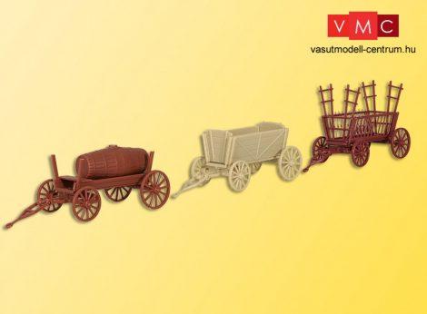 Kibri 15703 Mezőgazdasági régi pótkocsik (3 db)