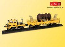 Kibri 16062 UNIMOG kétéltű (út-vasút) jármű felsővezeték karbantartó kocsival