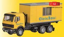 Kibri 16310 Mercedes-Benz Actros cserefelépítmény-szállító teherautó, 20 lábas lakókon