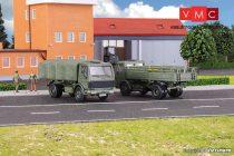 Kibri 18051 Mercedes-Benz 1017/1017A katonai teherautó, 2 db, Bundeswehr (H0)