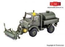 Kibri 18066 Unimog katonai teherautó, útseprő adapterrel, Bundeswehr - LED világítással (