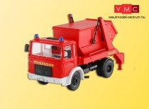 Kibri 18201 MAN tűzoltósági konténerszállító teherautó