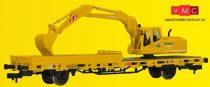 Kibri 26250 Pályafenntartási teherkocsi markológéppel, GleisBau- Kész modell