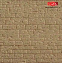 Kibri 34119 Dekorlap, kőfal, szabályos sorban