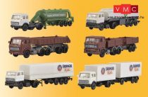 Kibri 36980 Mercedes-Benz / DAF teherautók és kamionok, 6 db (Z)